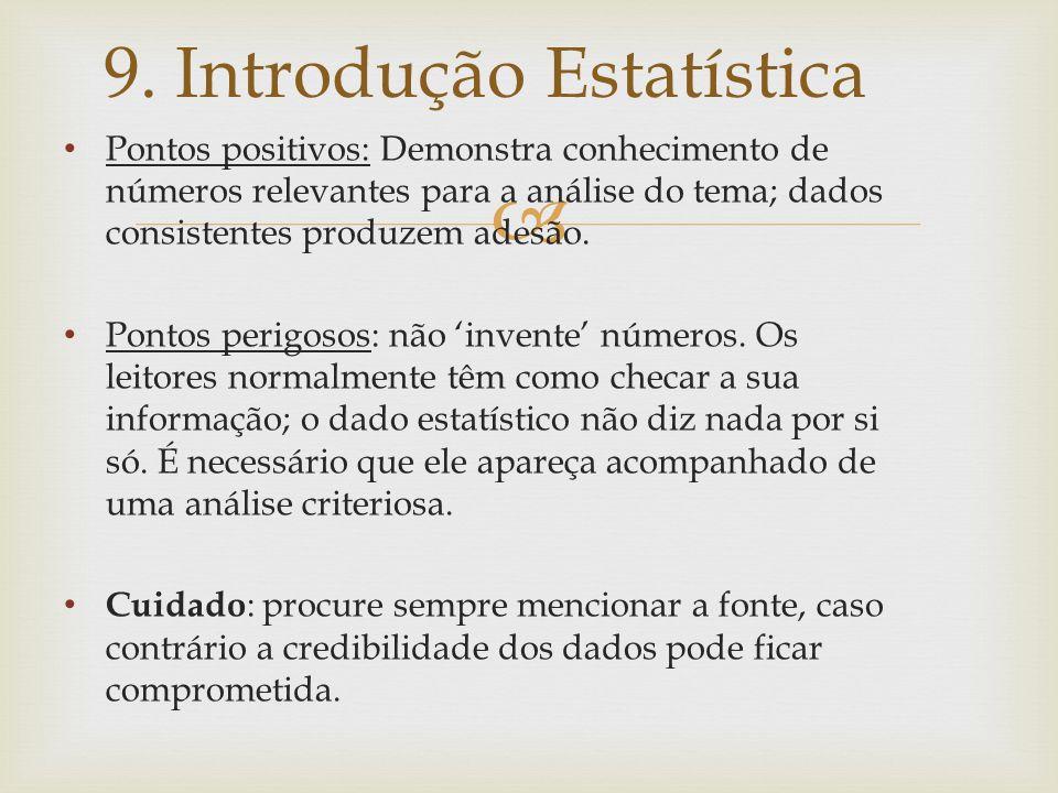 9. Introdução Estatística