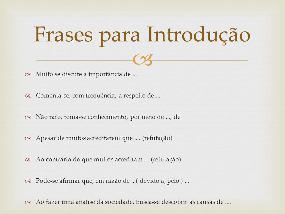 Frases para Introdução