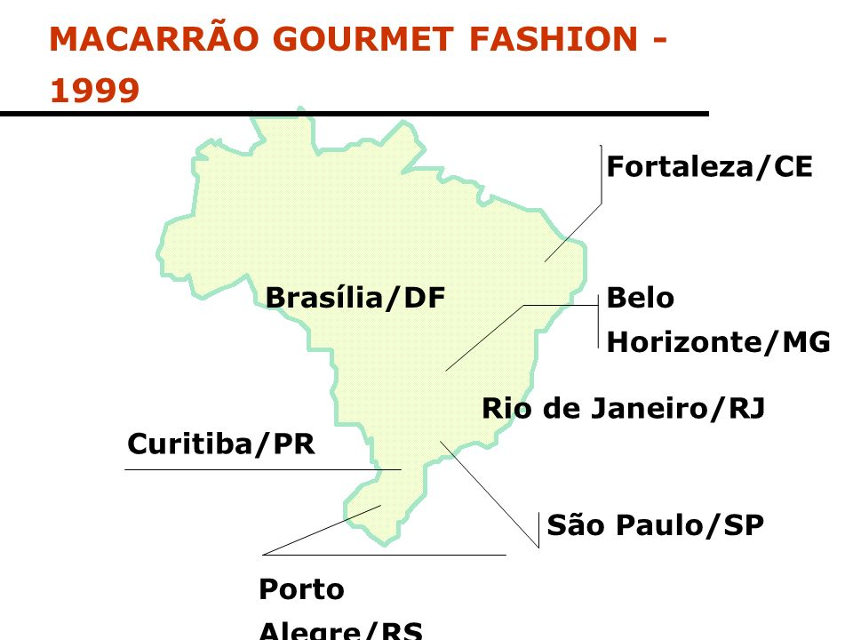 MACARRÃO GOURMET FASHION - 1999