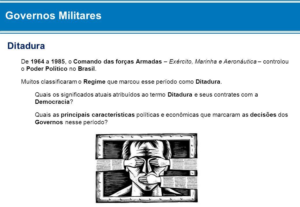 Governos Militares Ditadura