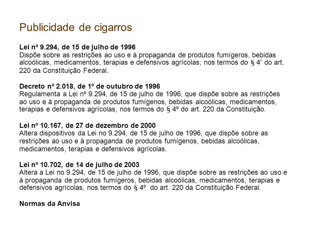 Publicidade de cigarros