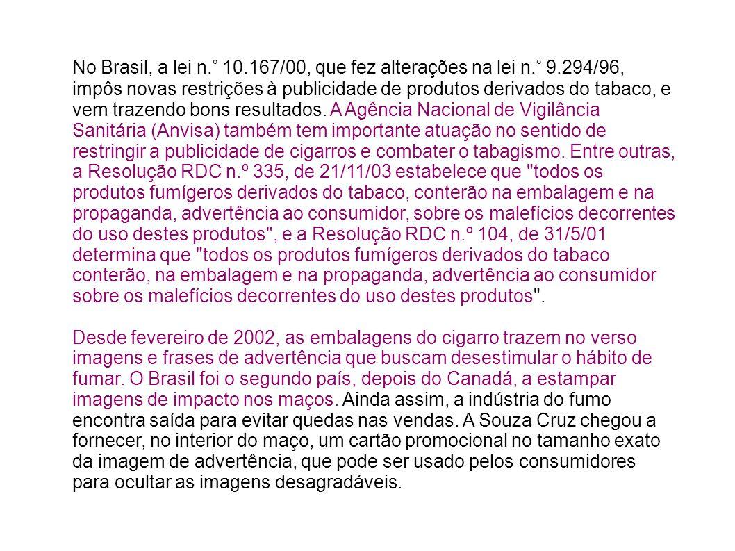No Brasil, a lei n. ° 10. 167/00, que fez alterações na lei n. ° 9