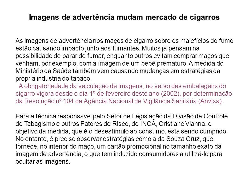 Imagens de advertência mudam mercado de cigarros