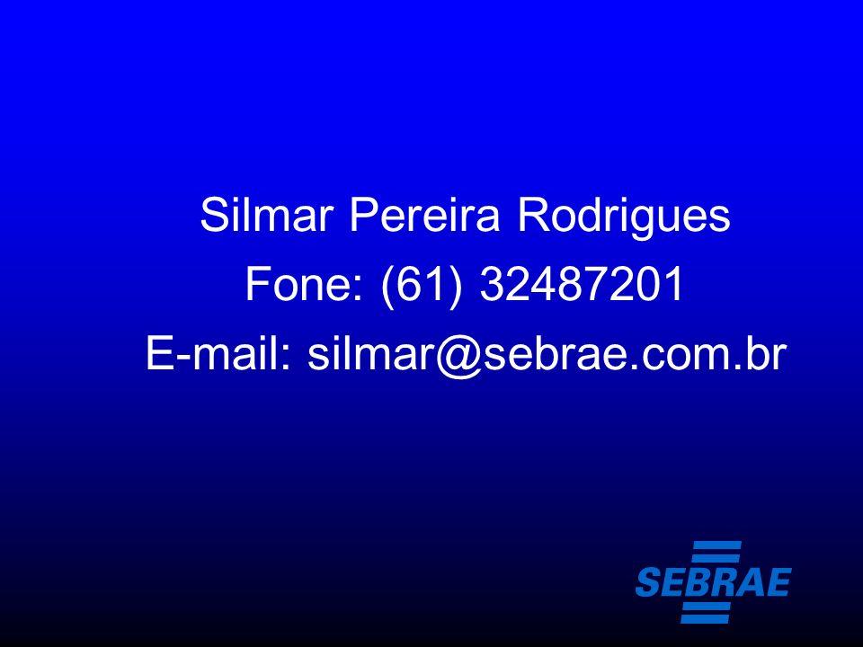 Silmar Pereira Rodrigues Fone: (61) 32487201