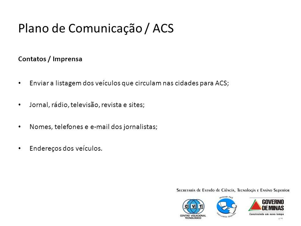 Plano de Comunicação / ACS