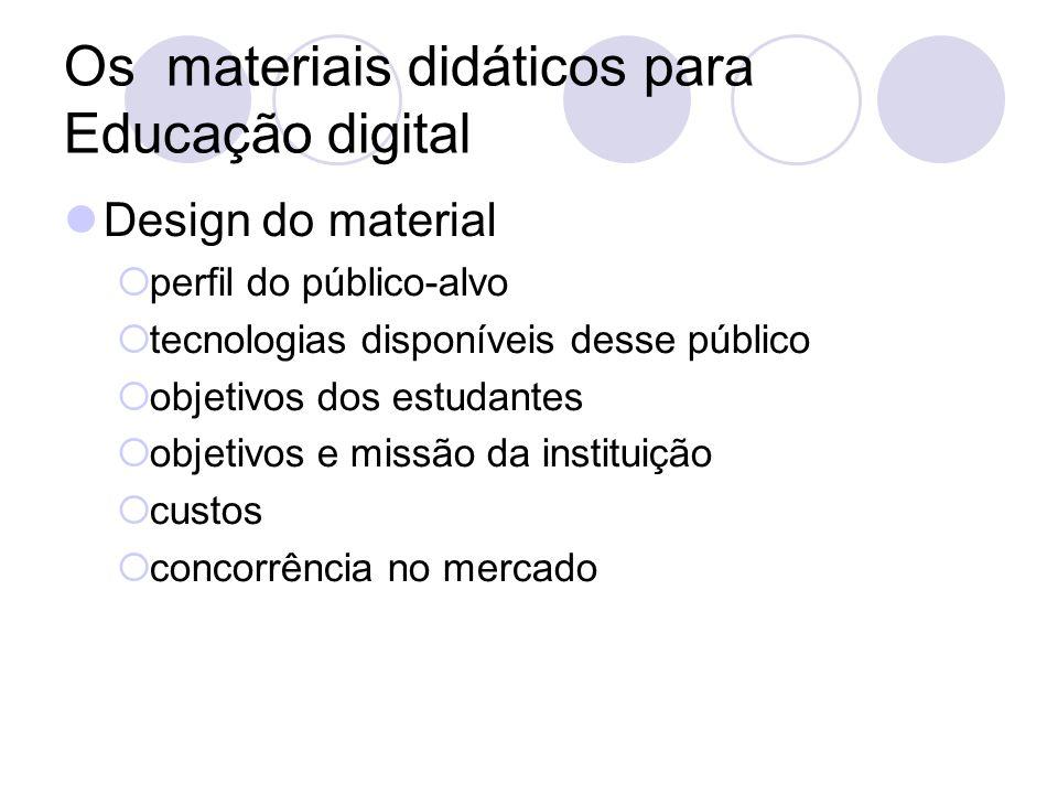 Os materiais didáticos para Educação digital