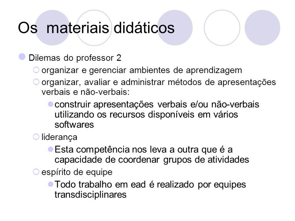 Os materiais didáticos