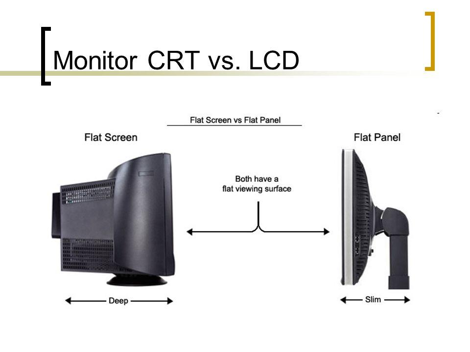 Monitor CRT vs. LCD