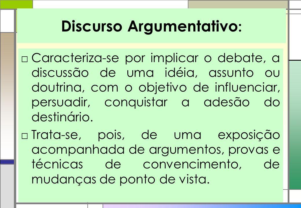 Discurso Argumentativo:
