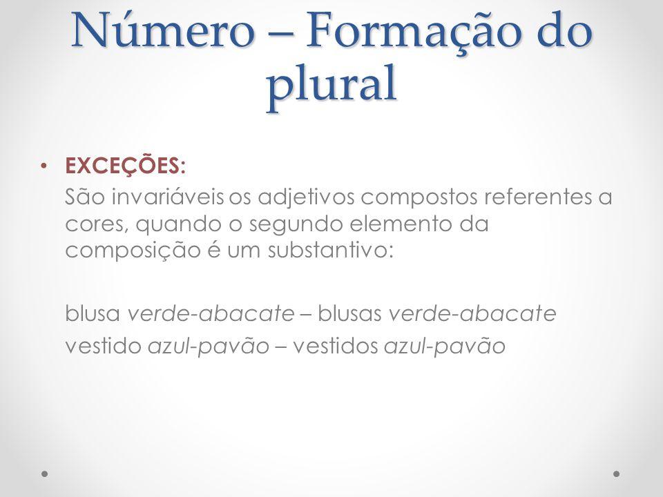 Número – Formação do plural