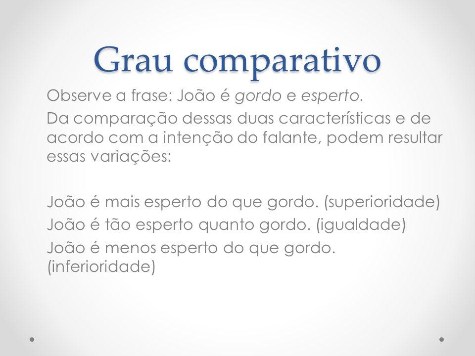 Grau comparativo
