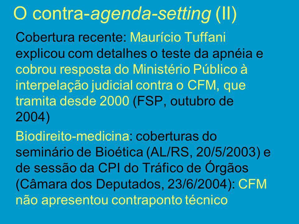 O contra-agenda-setting (II)