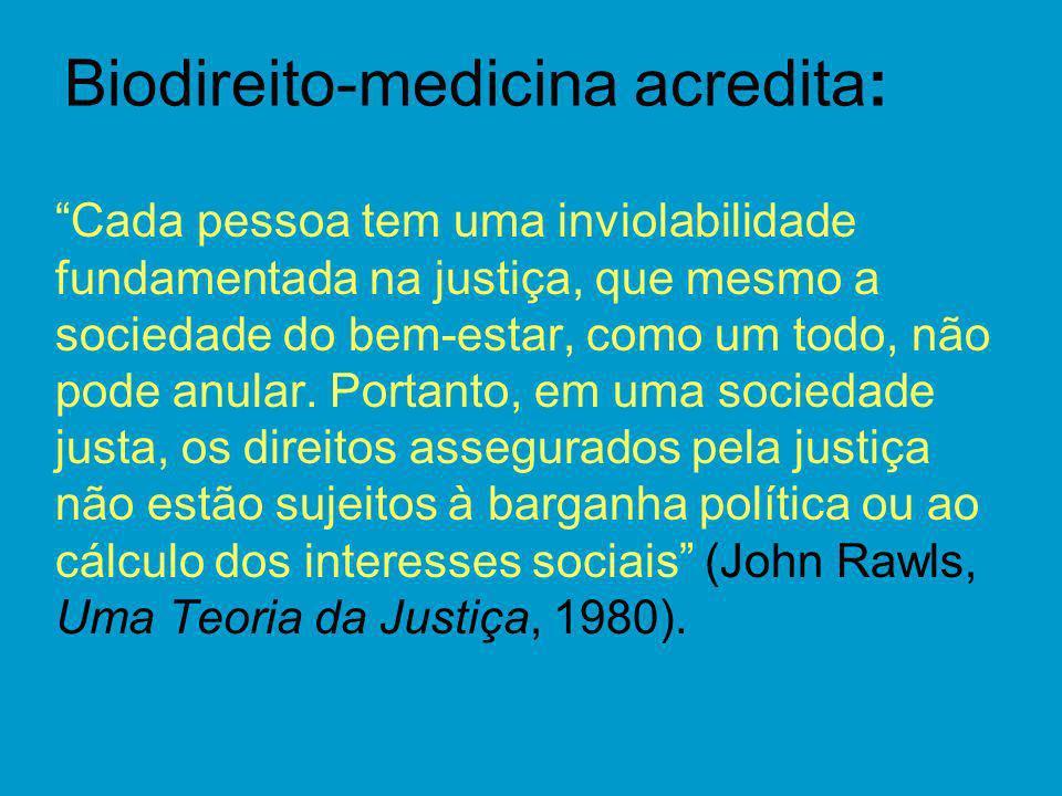 Biodireito-medicina acredita: