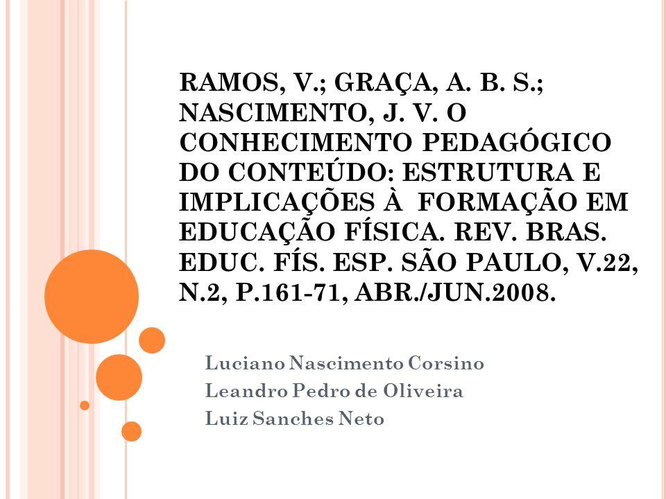 Luciano Nascimento Corsino Leandro Pedro de Oliveira Luiz Sanches Neto
