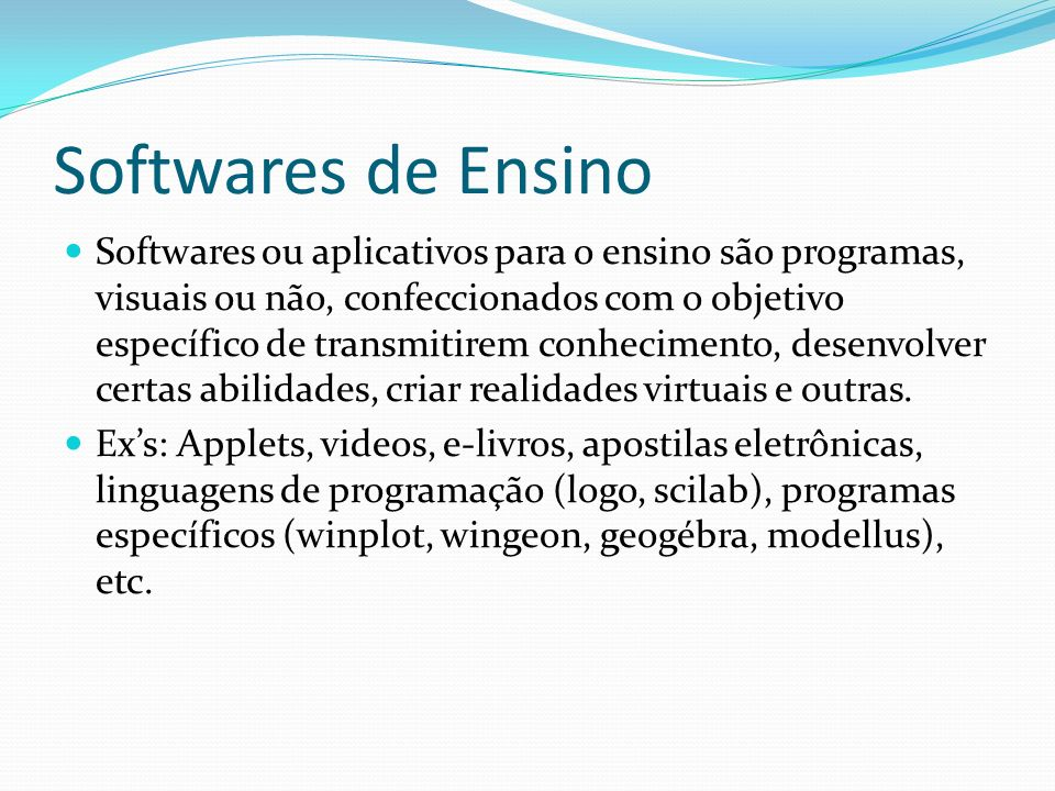 Softwares de Ensino