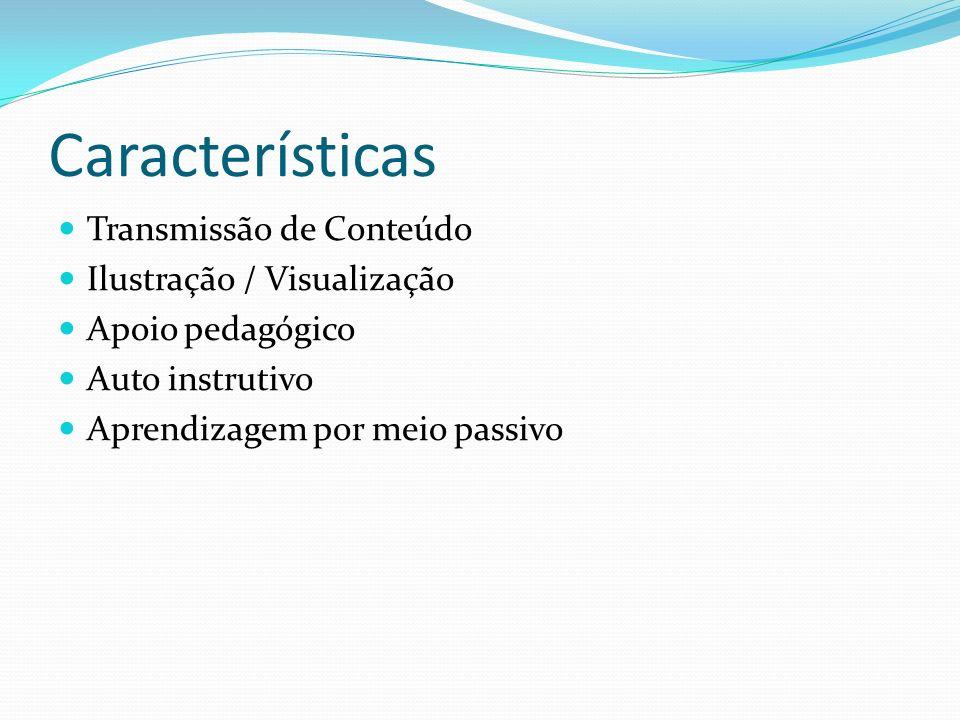 Características Transmissão de Conteúdo Ilustração / Visualização