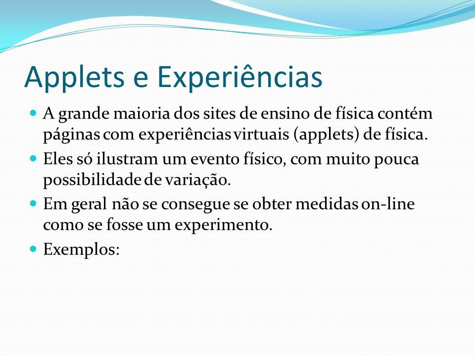 Applets e Experiências