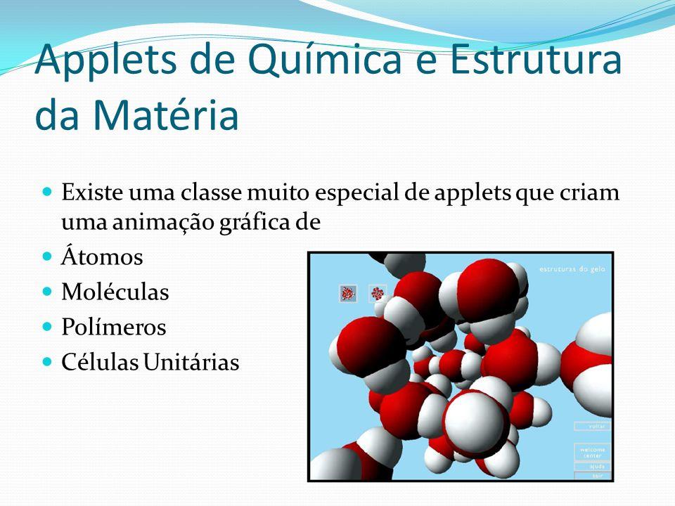 Applets de Química e Estrutura da Matéria