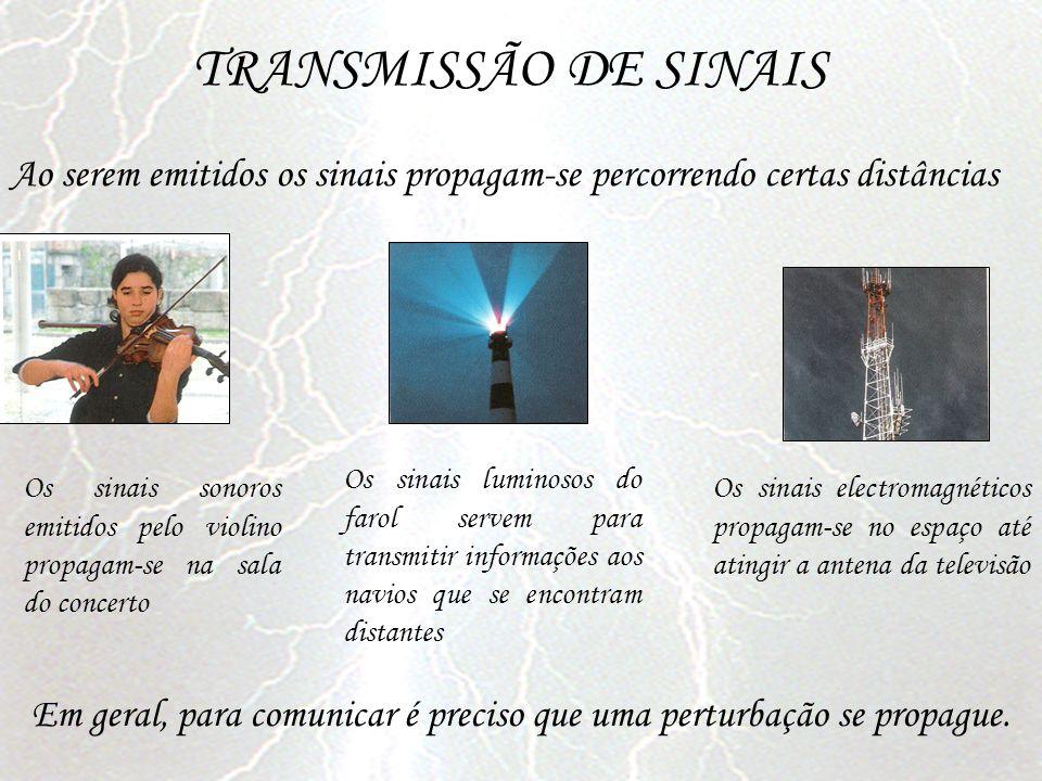 TRANSMISSÃO DE SINAIS Ao serem emitidos os sinais propagam-se percorrendo certas distâncias.