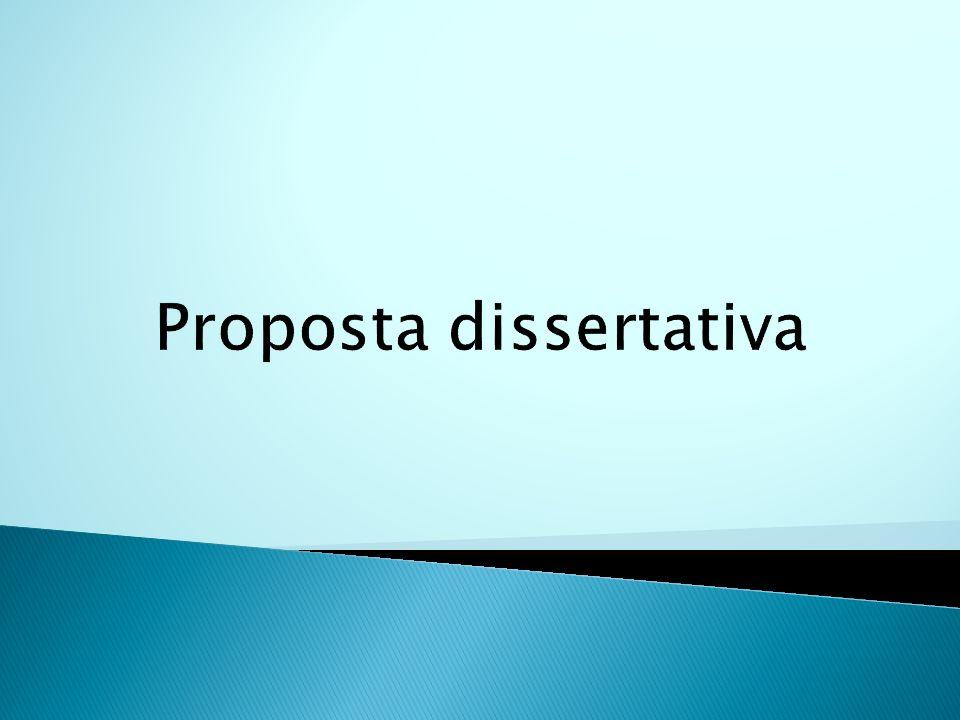 Proposta dissertativa