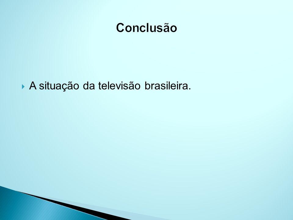 Conclusão A situação da televisão brasileira.