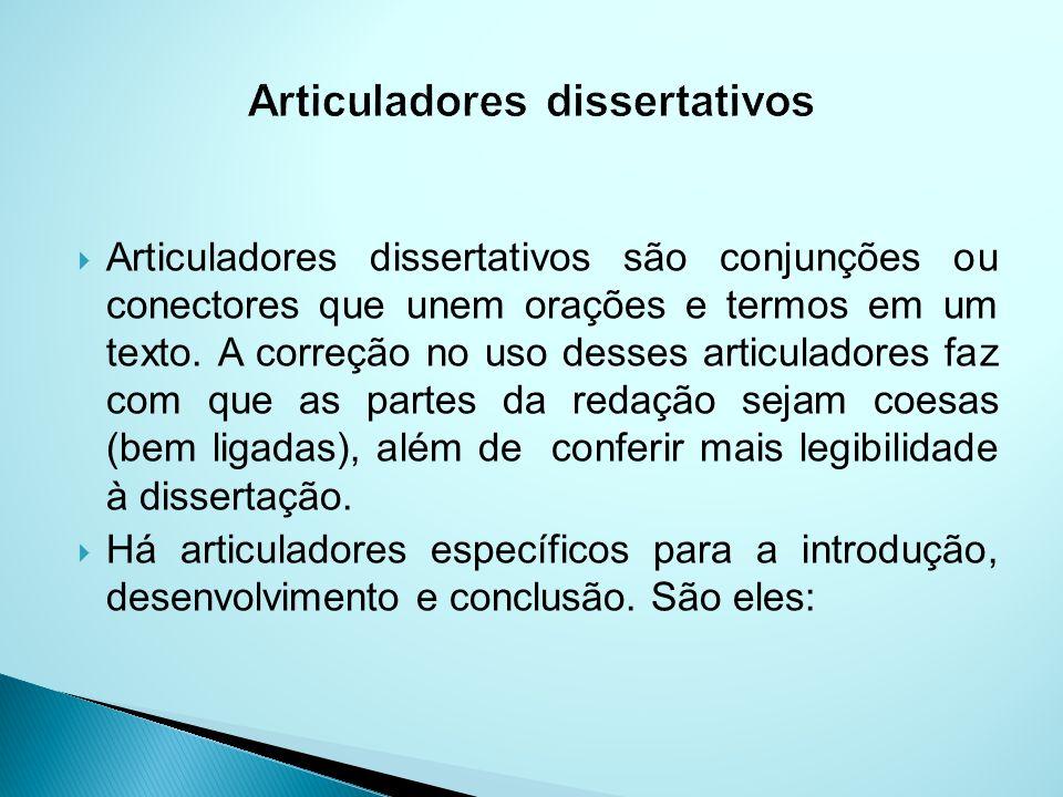 Articuladores dissertativos