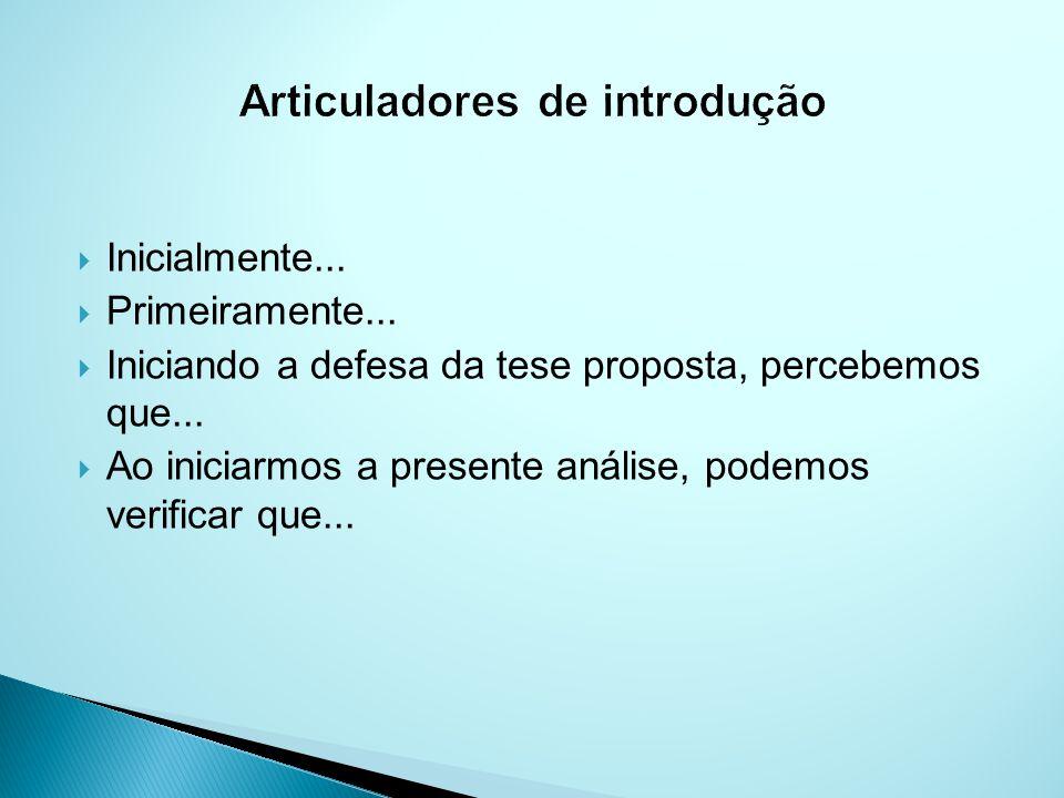 Articuladores de introdução