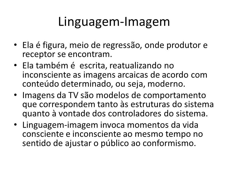 Linguagem-Imagem Ela é figura, meio de regressão, onde produtor e receptor se encontram.