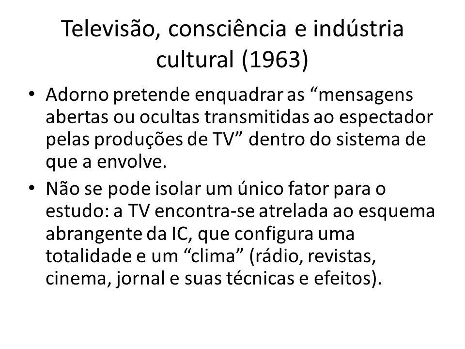Televisão, consciência e indústria cultural (1963)
