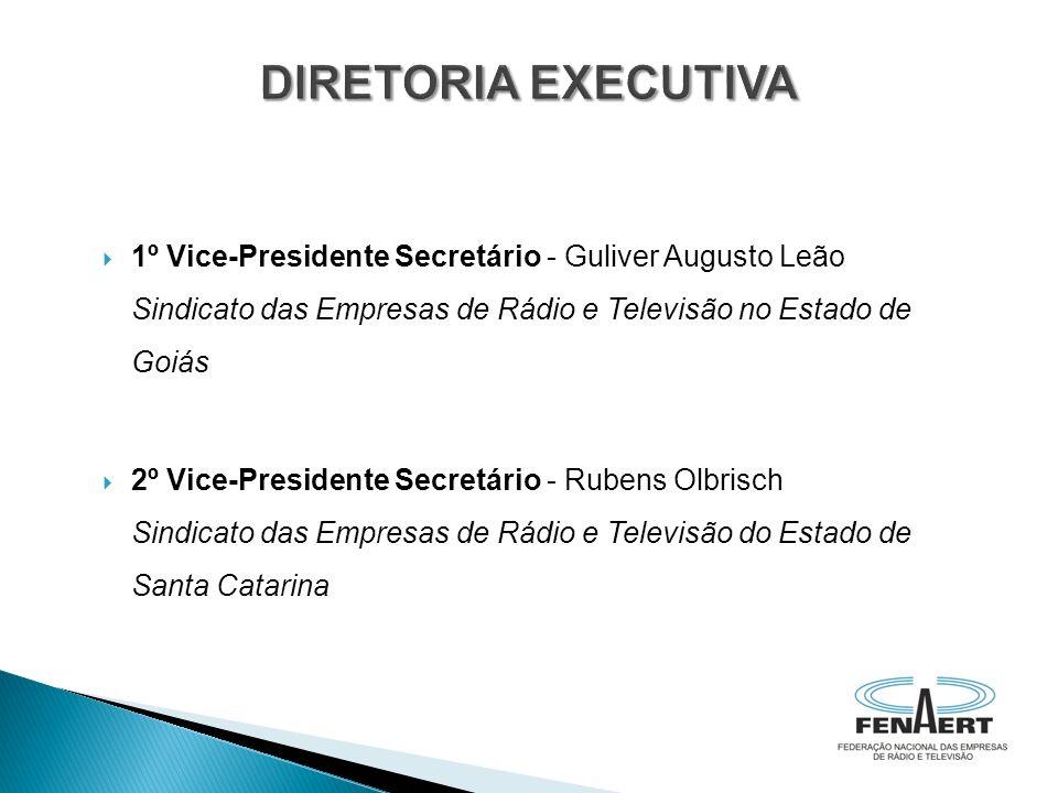 DIRETORIA EXECUTIVA 1º Vice-Presidente Secretário - Guliver Augusto Leão Sindicato das Empresas de Rádio e Televisão no Estado de Goiás.