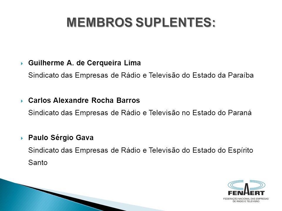 MEMBROS SUPLENTES: Guilherme A. de Cerqueira Lima