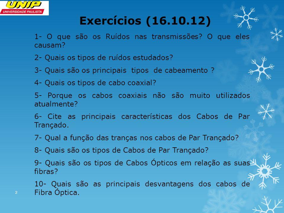 Exercícios (16.10.12)