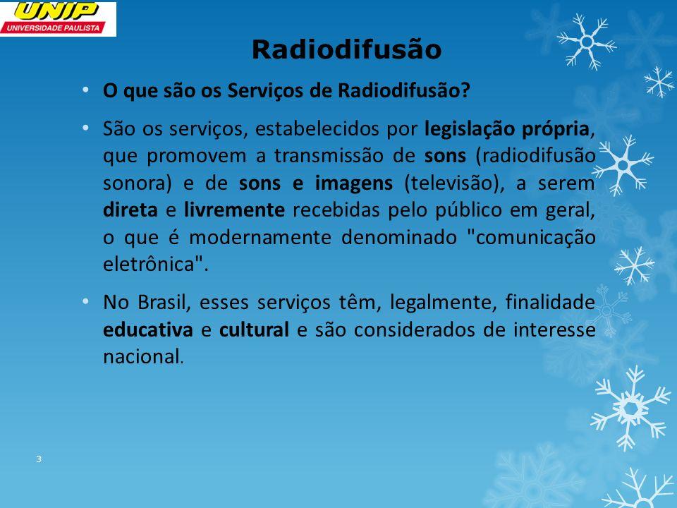 Radiodifusão O que são os Serviços de Radiodifusão