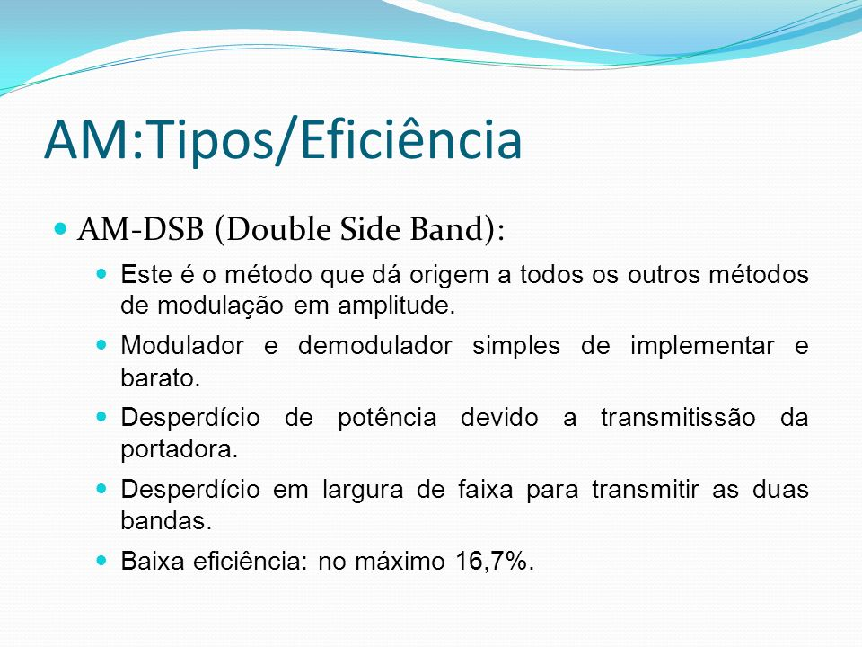 AM:Tipos/Eficiência AM-DSB (Double Side Band):