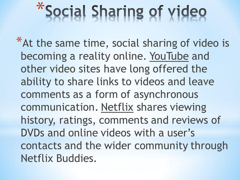 Social Sharing of video