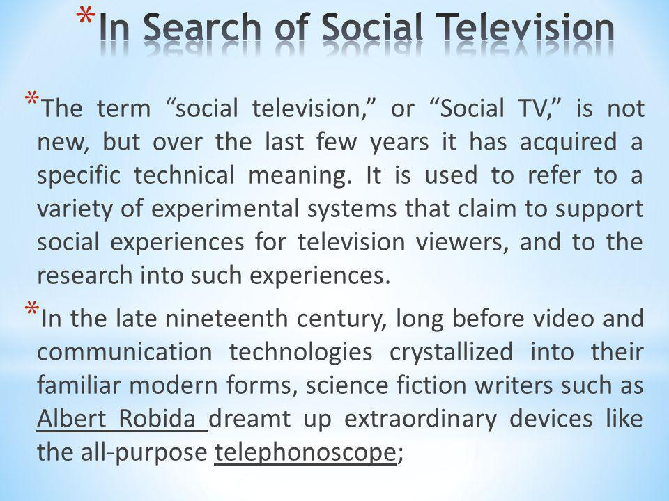 In Search of Social Television