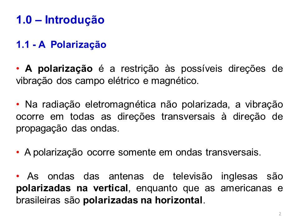 1.0 – Introdução 1.1 - A Polarização