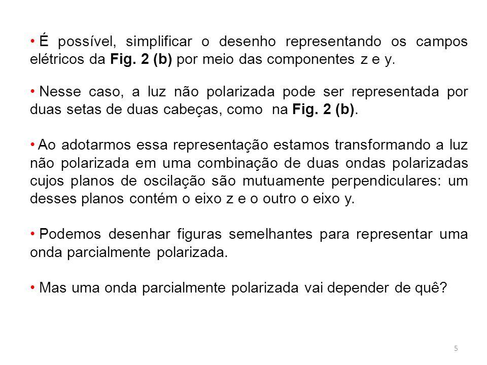 É possível, simplificar o desenho representando os campos elétricos da Fig. 2 (b) por meio das componentes z e y.