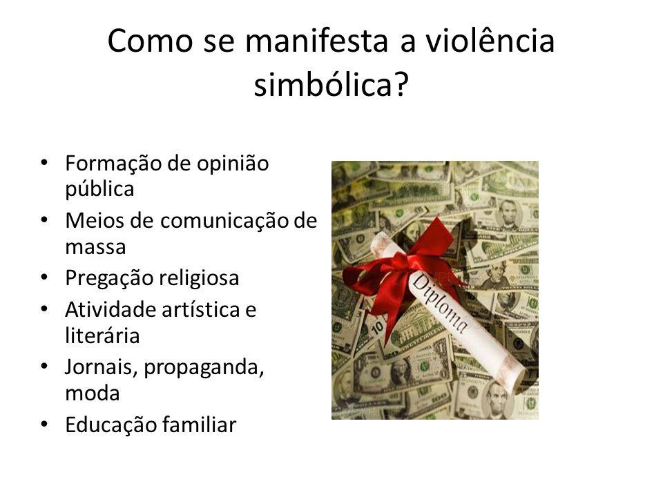 Como se manifesta a violência simbólica