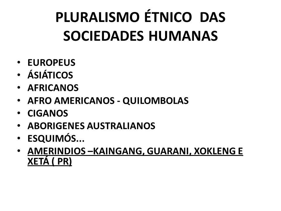 PLURALISMO ÉTNICO DAS SOCIEDADES HUMANAS