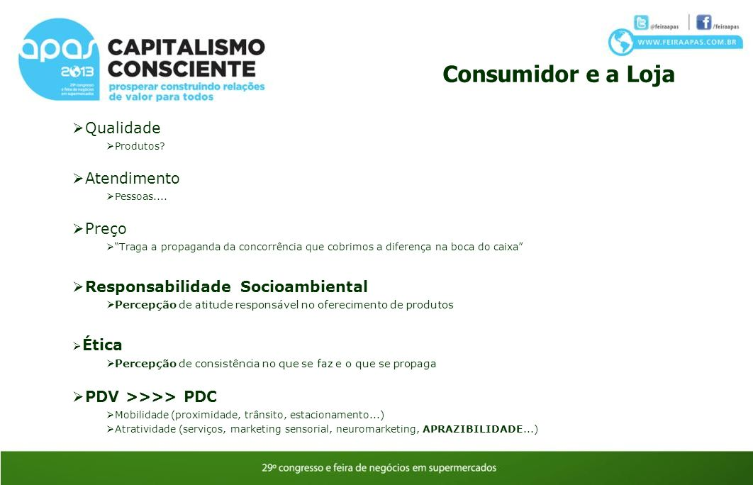 Consumidor e a Loja Qualidade Atendimento Preço