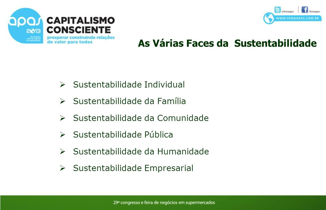 As Várias Faces da Sustentabilidade