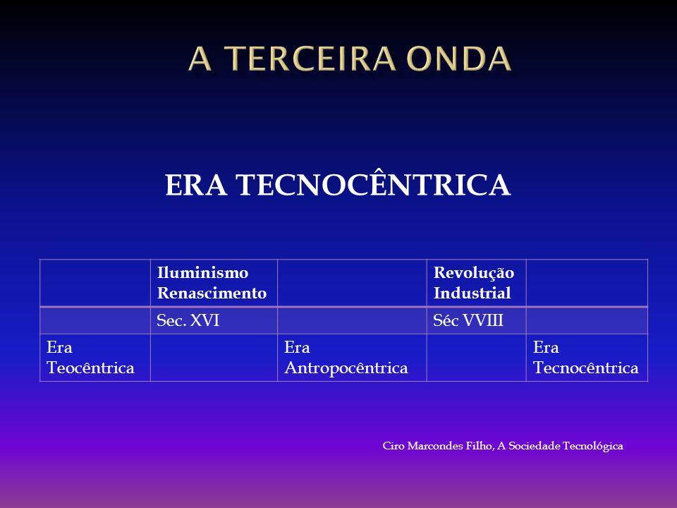 A TERCEIRA onda ERA TECNOCÊNTRICA Iluminismo Renascimento