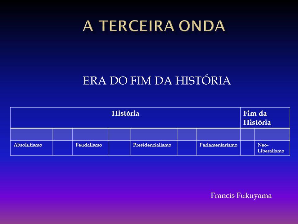 A TERCEIRA onda ERA DO FIM DA HISTÓRIA História Fim da História