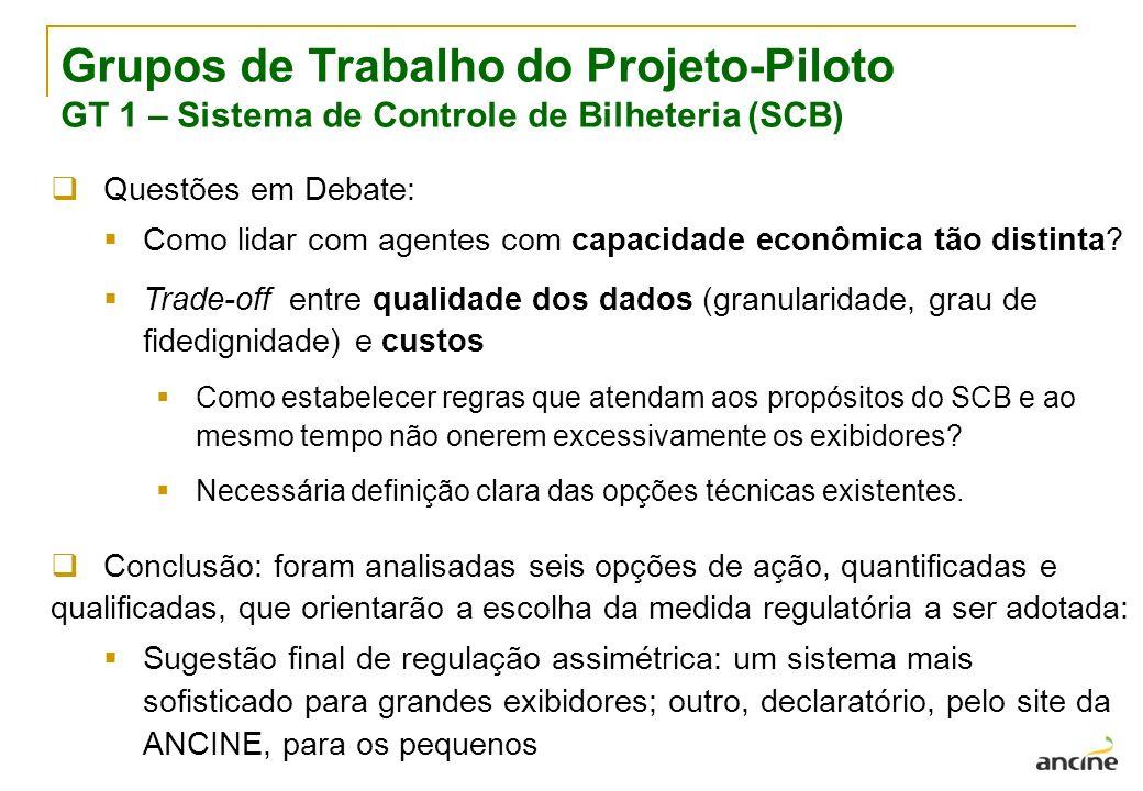 Grupos de Trabalho do Projeto-Piloto