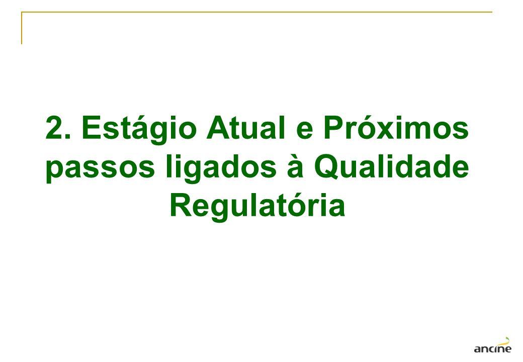2. Estágio Atual e Próximos passos ligados à Qualidade Regulatória