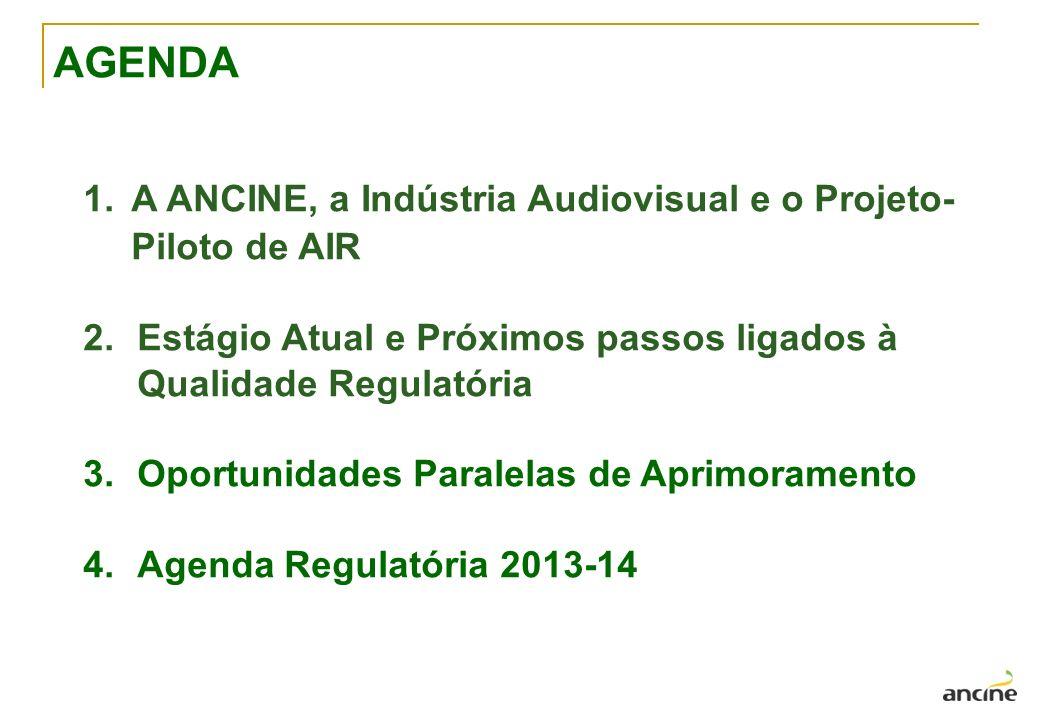 AGENDA A ANCINE, a Indústria Audiovisual e o Projeto-Piloto de AIR