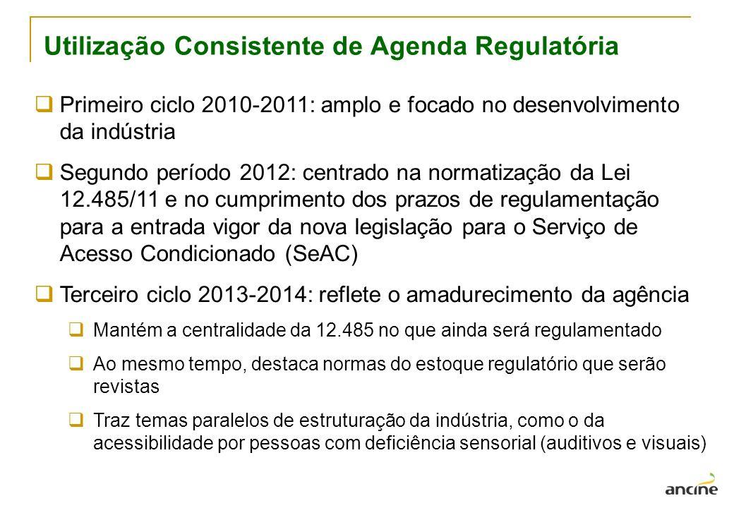 Utilização Consistente de Agenda Regulatória