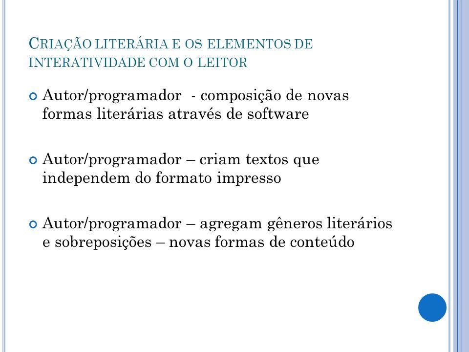 Criação literária e os elementos de interatividade com o leitor