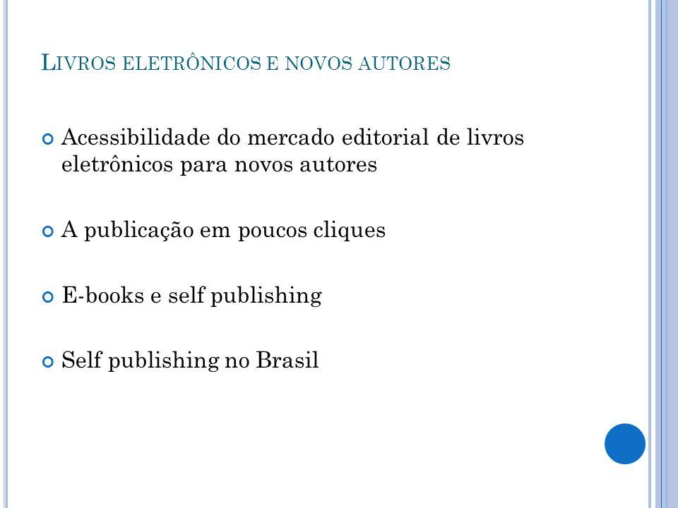 Livros eletrônicos e novos autores